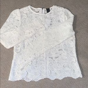 Magaschoni Long sleeve lace top